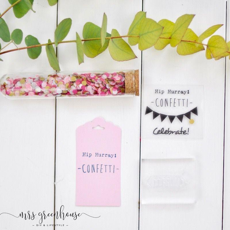 DIY Konfetti-Geschenkanhänger zum Geburtstag