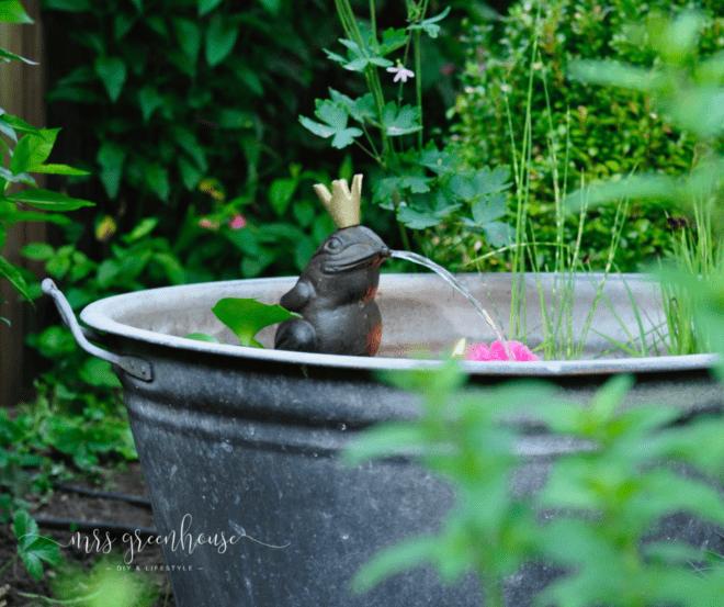 Romantischer Mini-Teich - Garten DIY