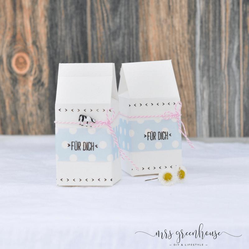Mini Milk Box - DIY für eine Geschenkverpackung