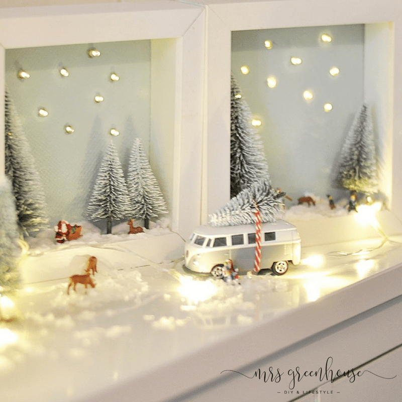 Mini-Winterlandschaft im Bilderrahmen