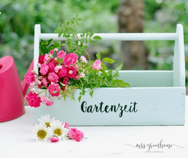 Garten DIY - beschriftete Gartenbox selber machen