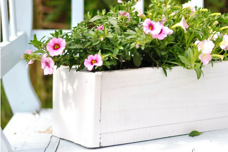 Blumenkästen aus Palettenholz - Upcycling im Garten