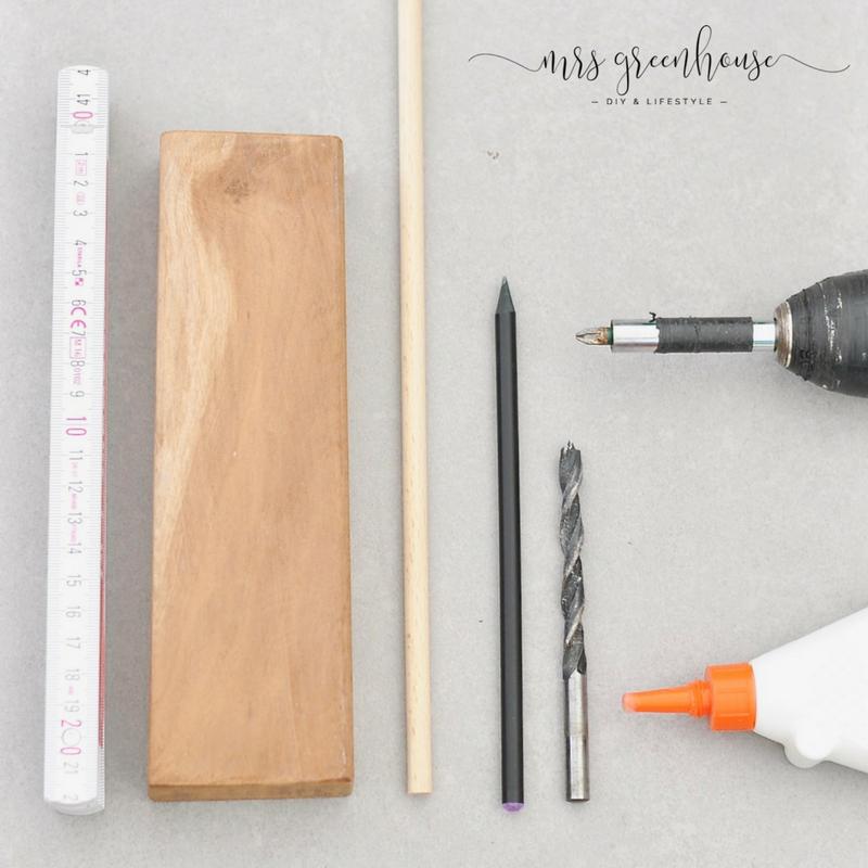 DIY Garnrollenhalter aus Holzresten