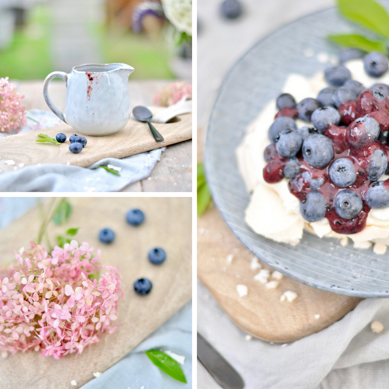 Blaubeere trifft Pavlova - ein köstliches Dessert