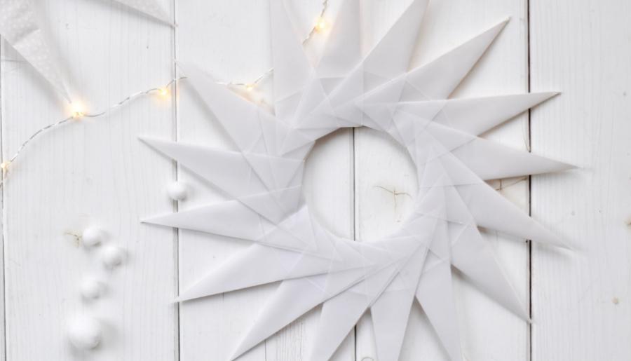 DIY Weihnachtssterne falten