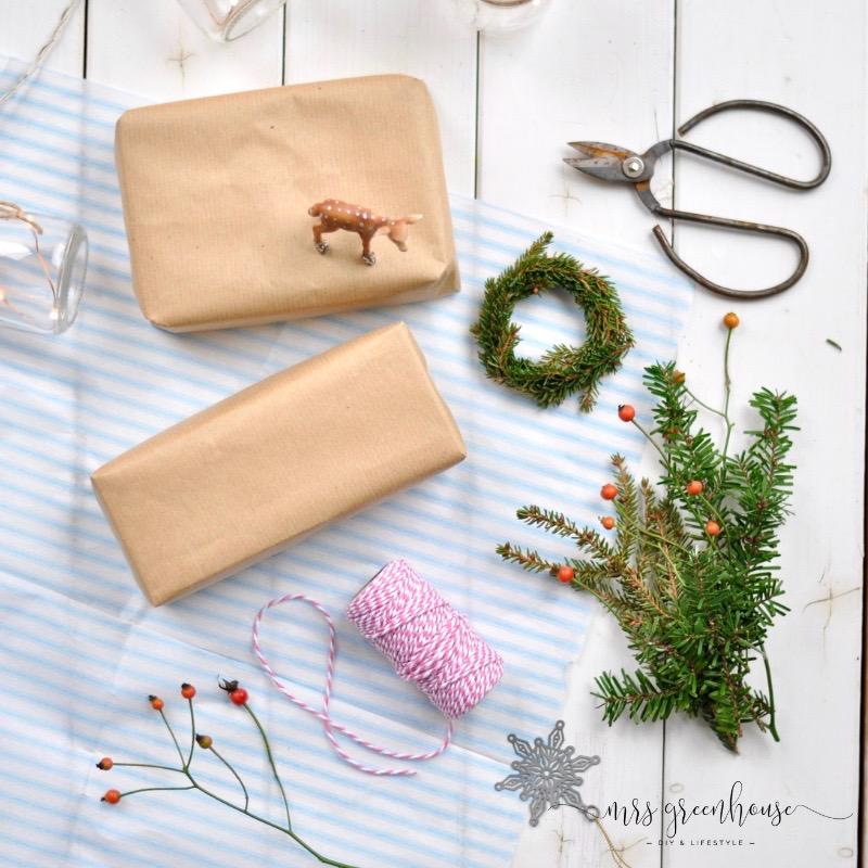 Weihachtliche Geschenkverpackung