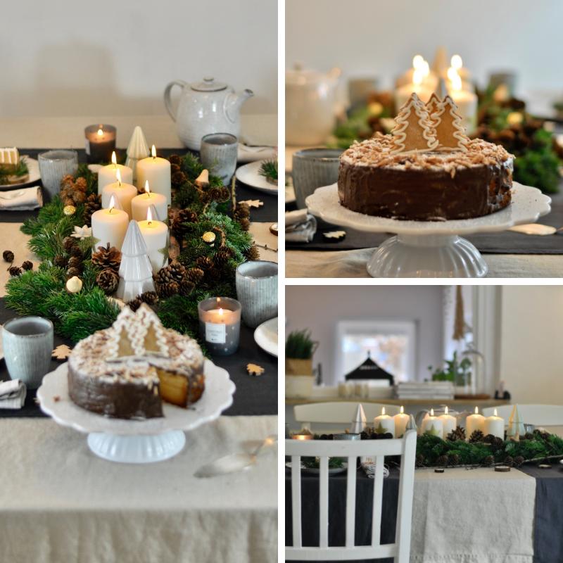 Waldweihnachtliche Tischdekoration