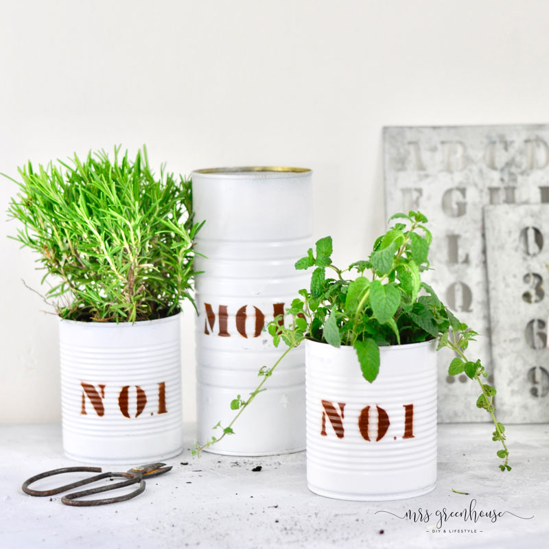 DIY Dosen-upcycling für coole Pflanztöpfe