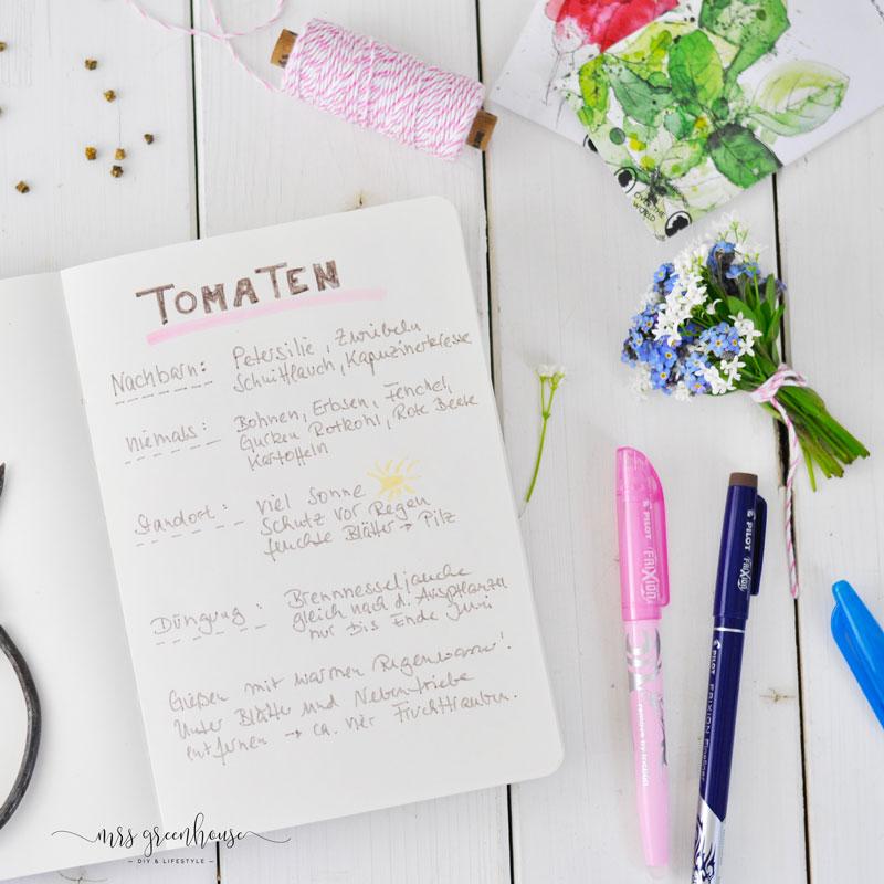 Garten Journal mit Rezepten