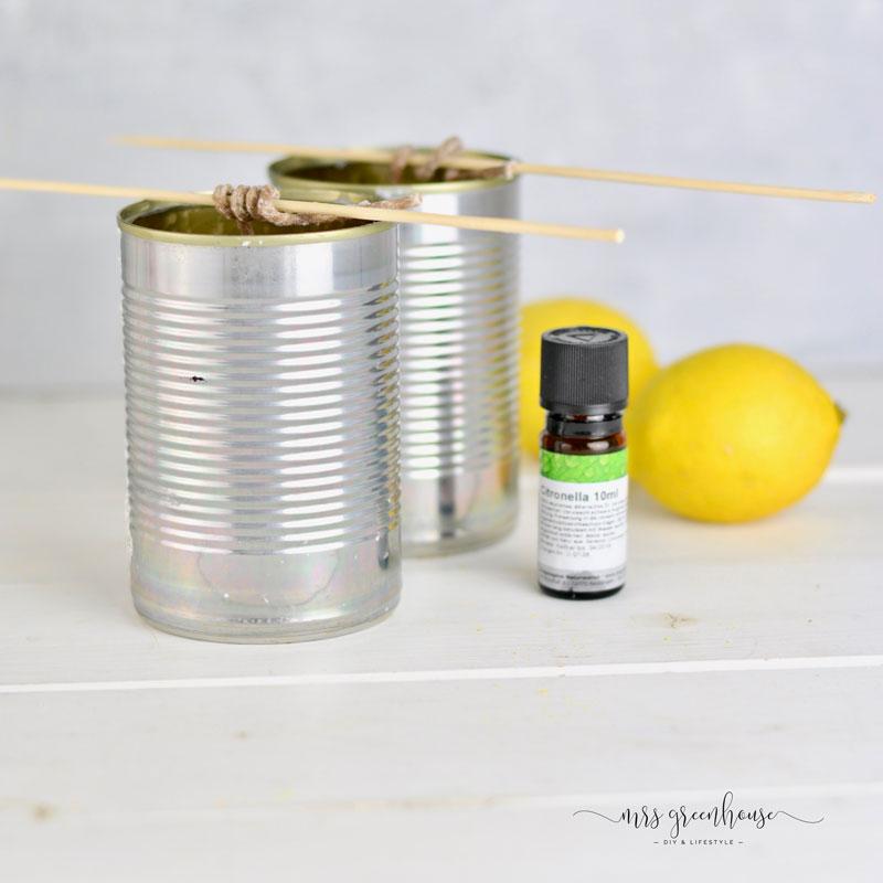 Dosen für Anti Mücken Kerze