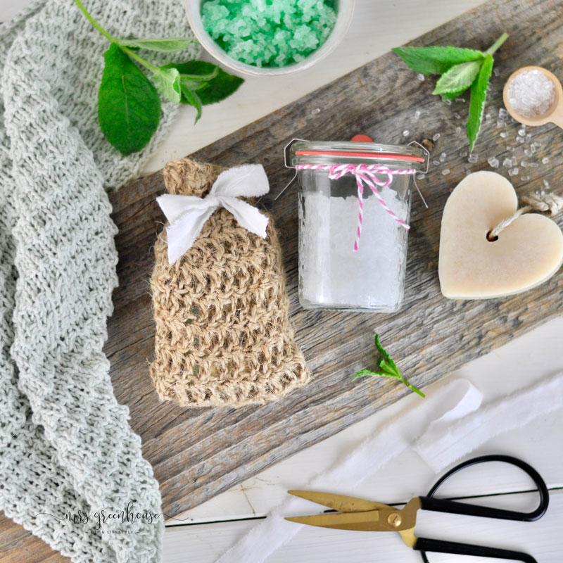 Sisalbeutel und Fusspeeling DIY