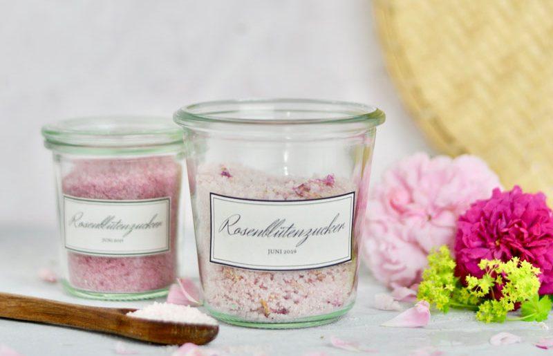 Rosenblütenzucker selbst gemacht