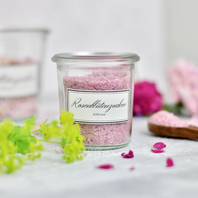 Rosenblütenzucker selber machen