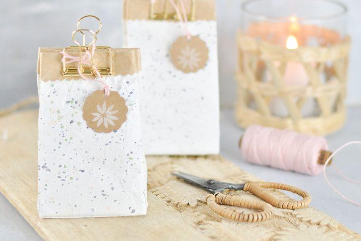 Tetrapack Milchtüten Geschenkverpackung basteln