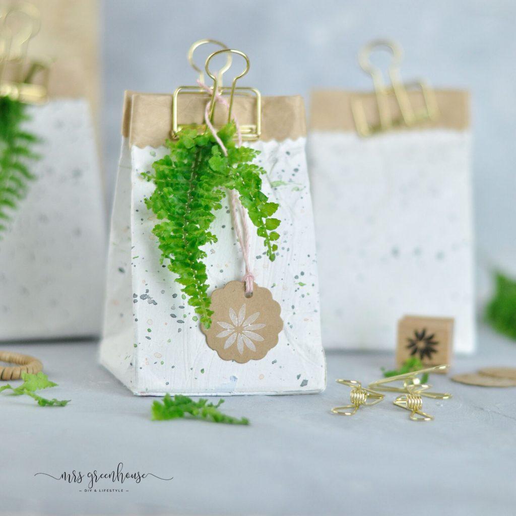 Geschenkverpackung aus Tetrapack-MIlchtüten