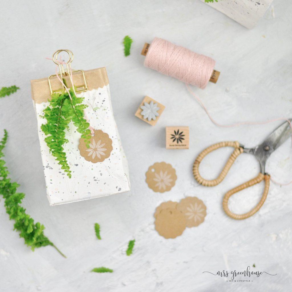 tetrapack als Geschenkverpackung basteln