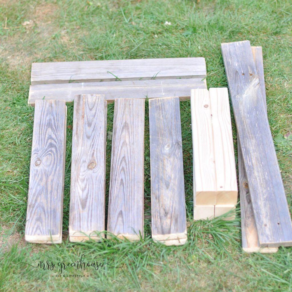 Palettenholz für Gartentisch