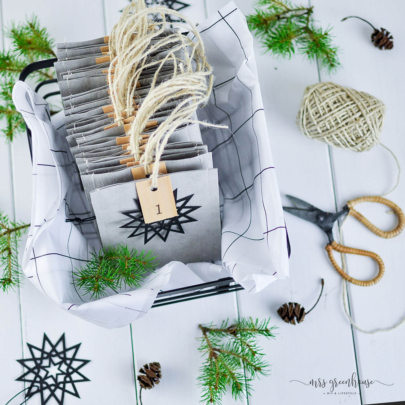 Skandi Adventskalender DIY