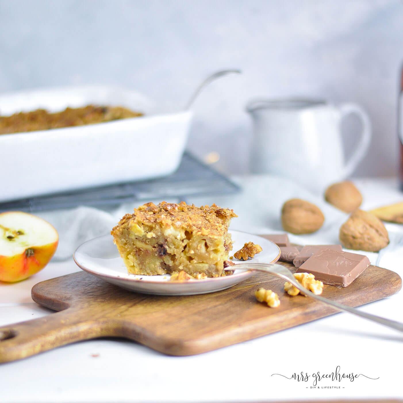 Apfelkuchen mit Karamellsoße