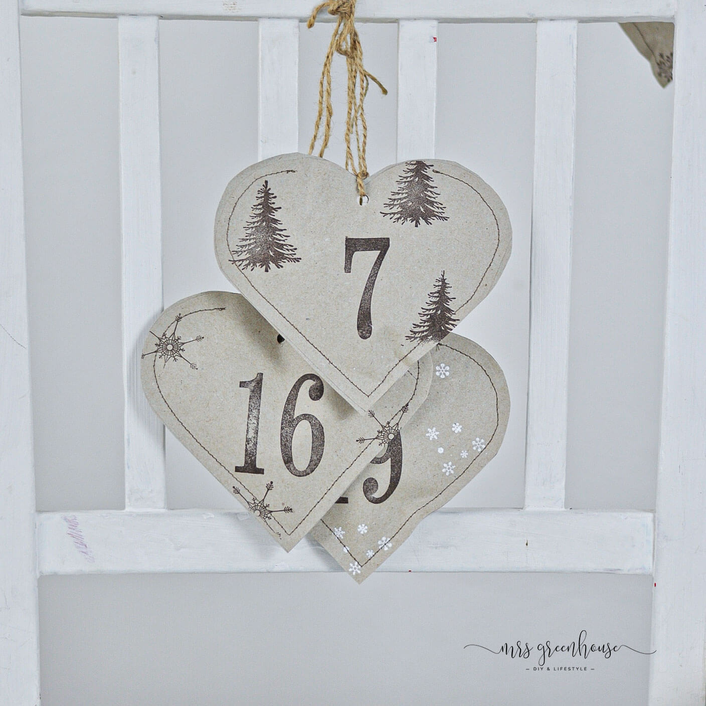 Adventskalender Upcycling aus Papier