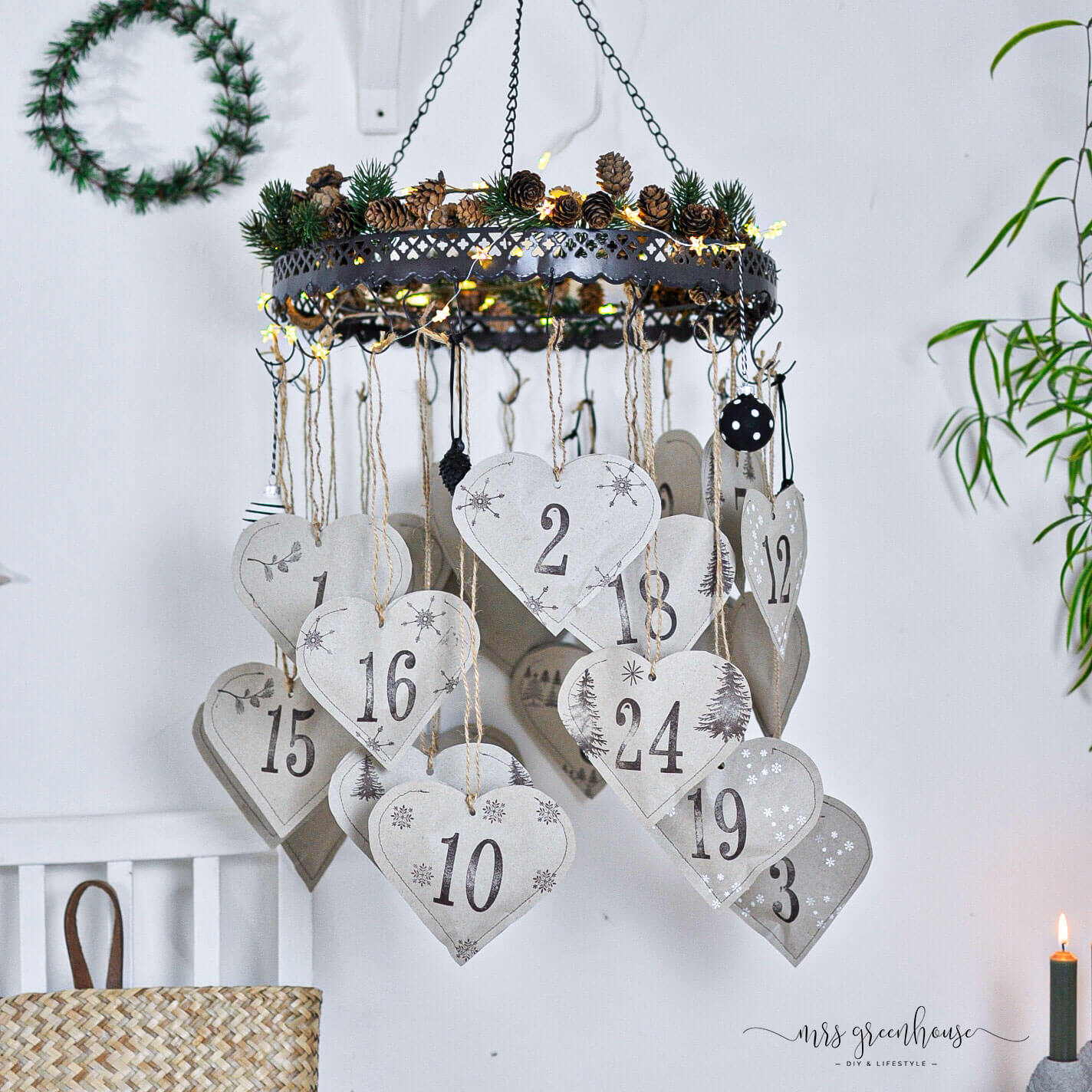 Upcycling Adventskalender aus Papier