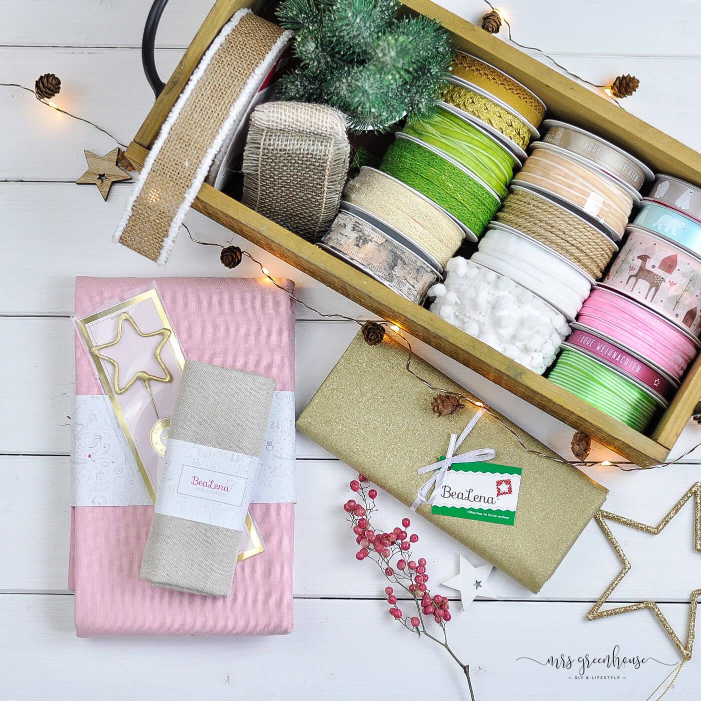 Bänder und Stoffe für Geschenke