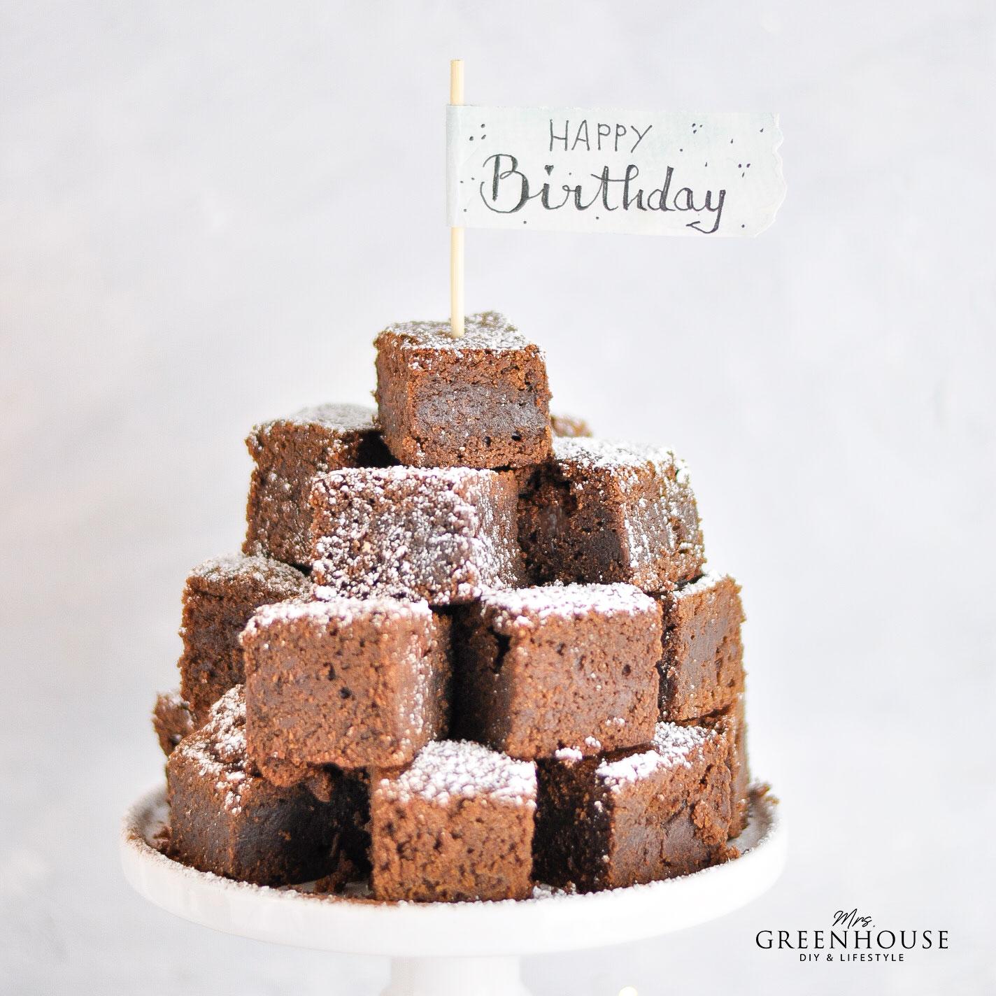 Brownies Rezept zum Geburtstag