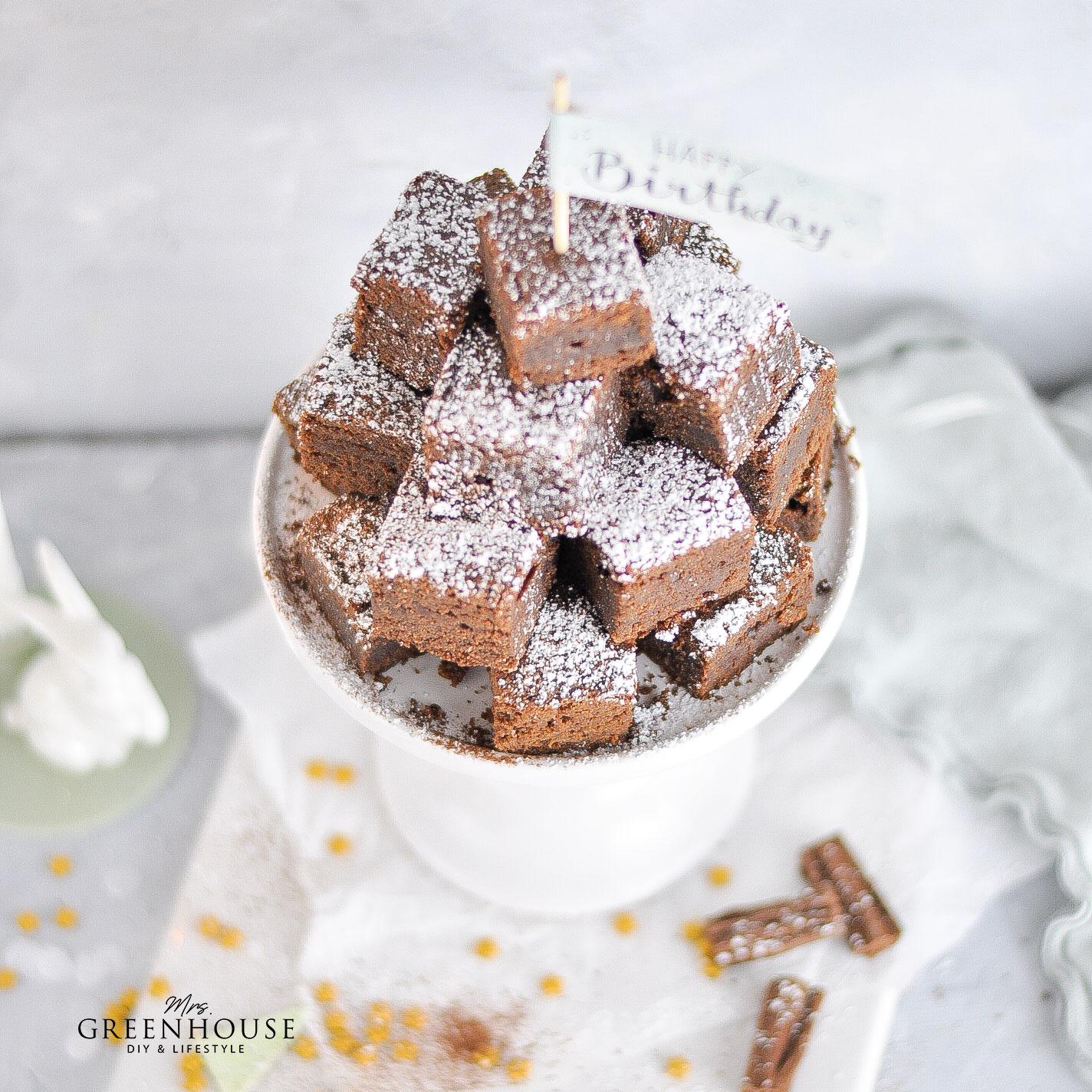 Brownies zum Geburtstag