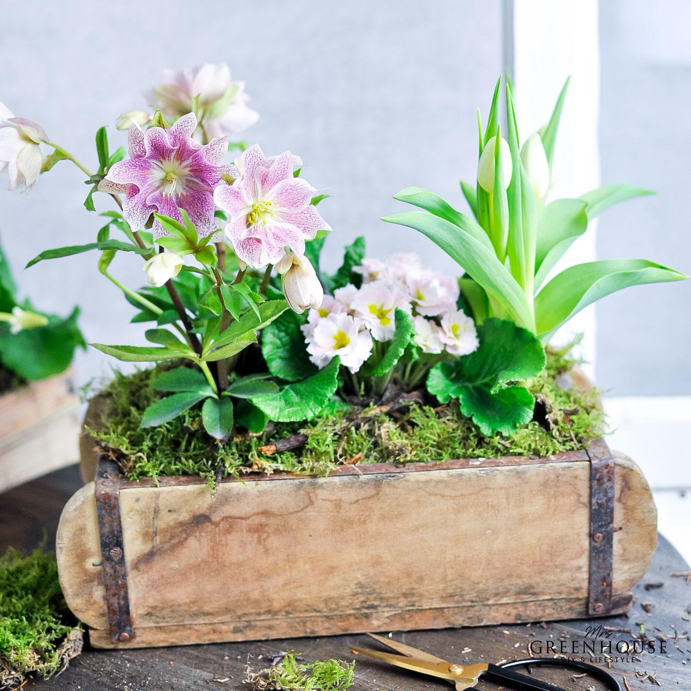 Blumen in Ziegelform