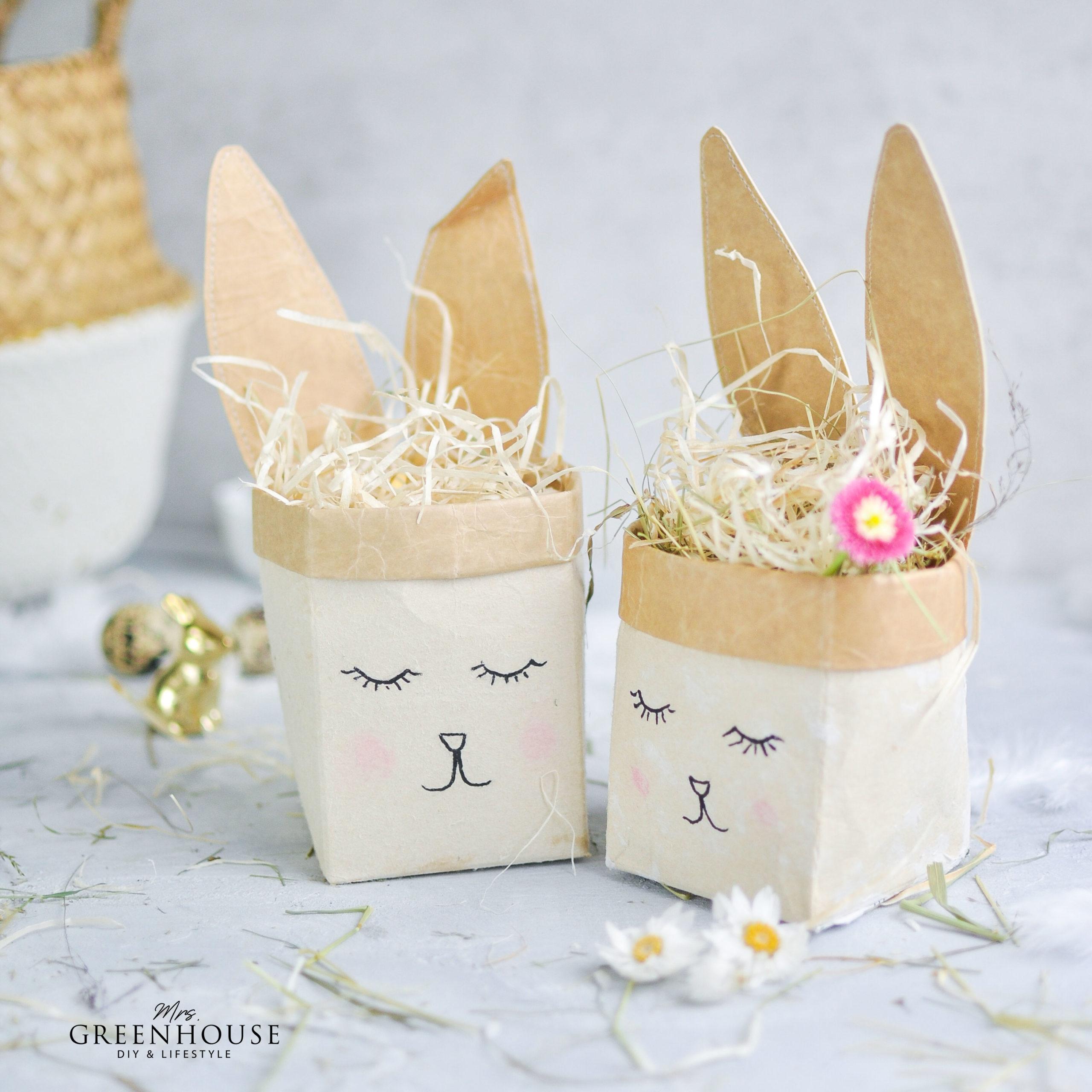 Osterkörbchen aus Milchtüten