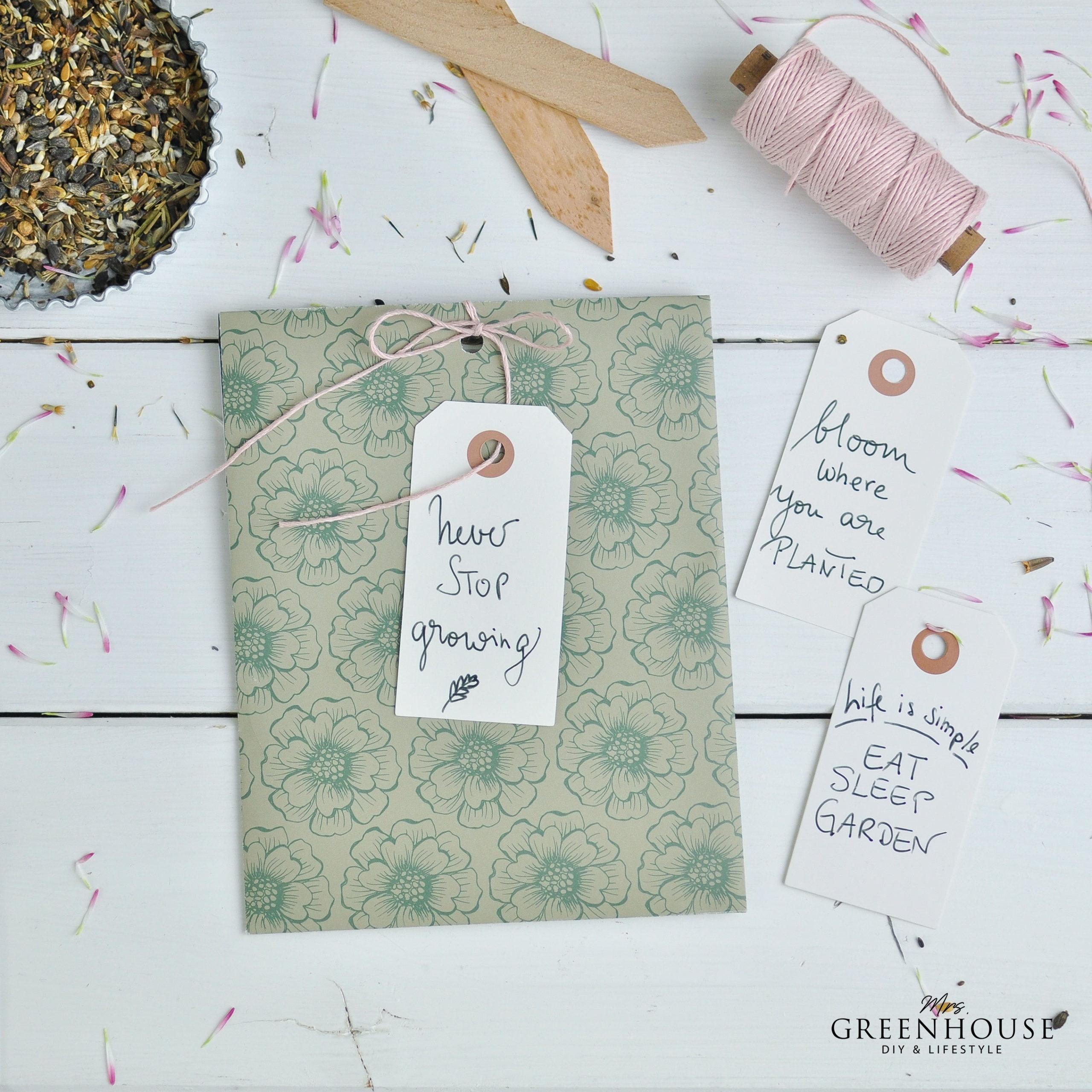 Geschenkverpackung für Samentütchen