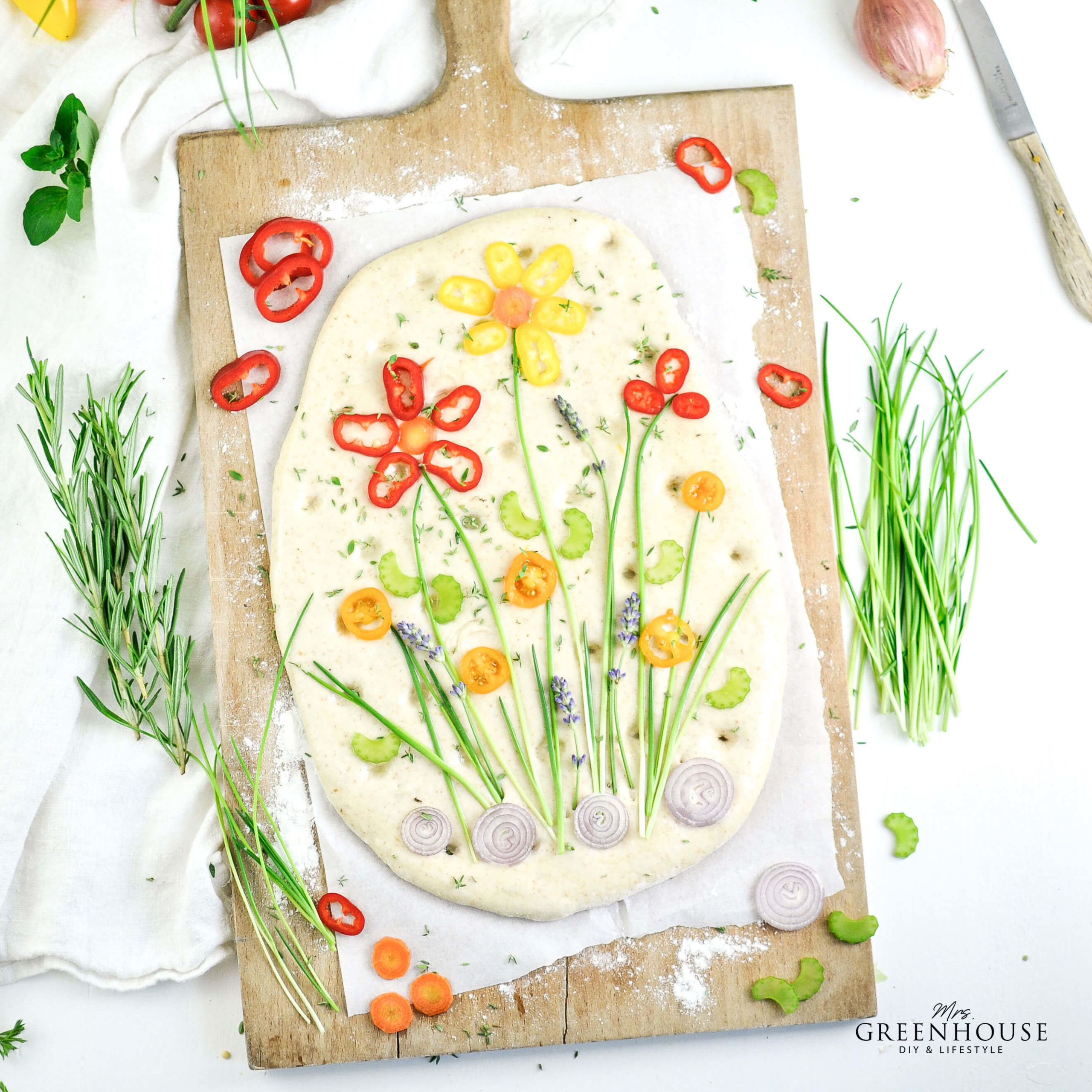 Flower Focaccia Rezept