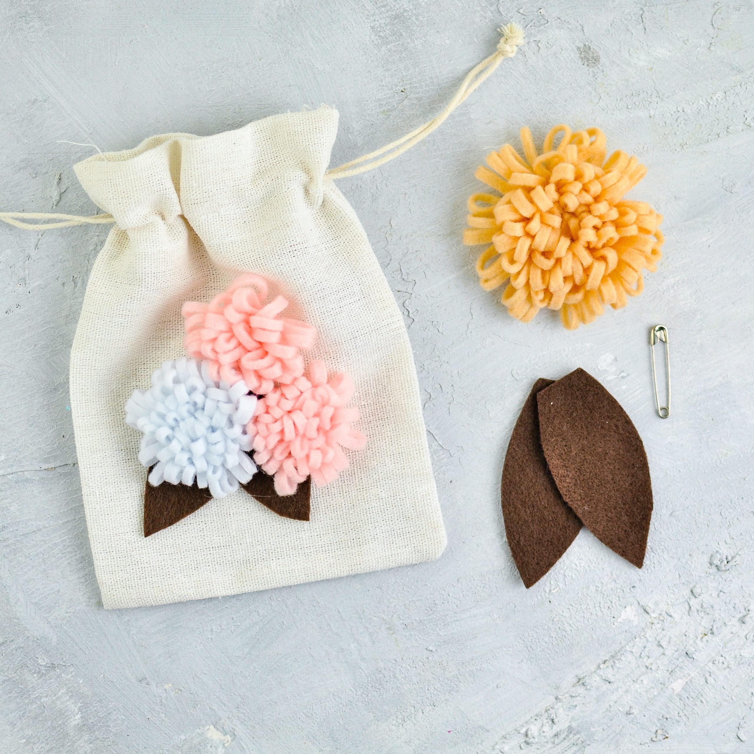 Anleitung Blüten aus Filz