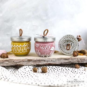 Marmeladeglas verzieren