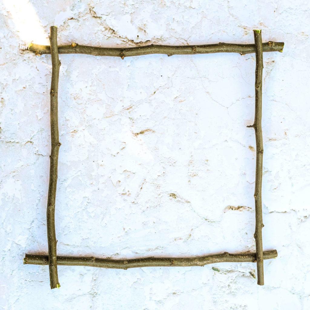 Fensterkreuz zurechtlegen