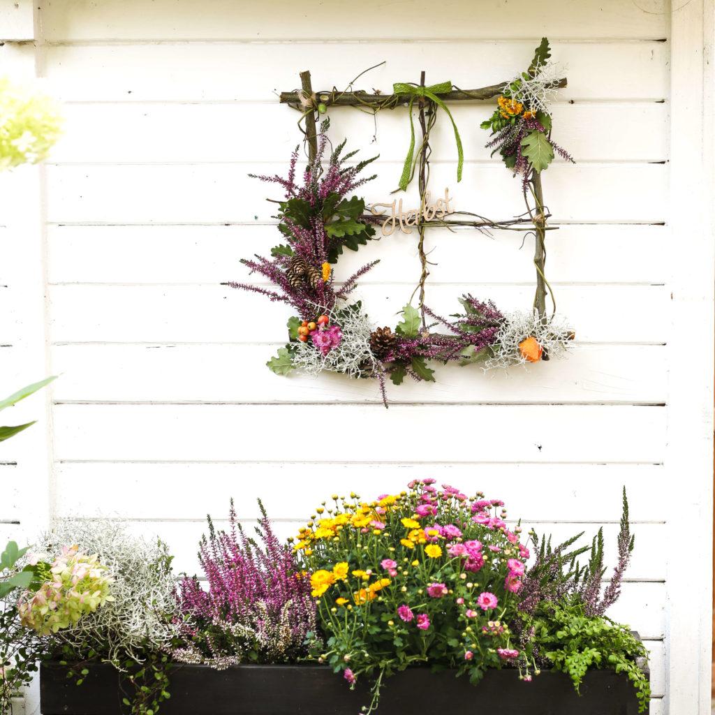 Blumen Fensterrahmen Deko
