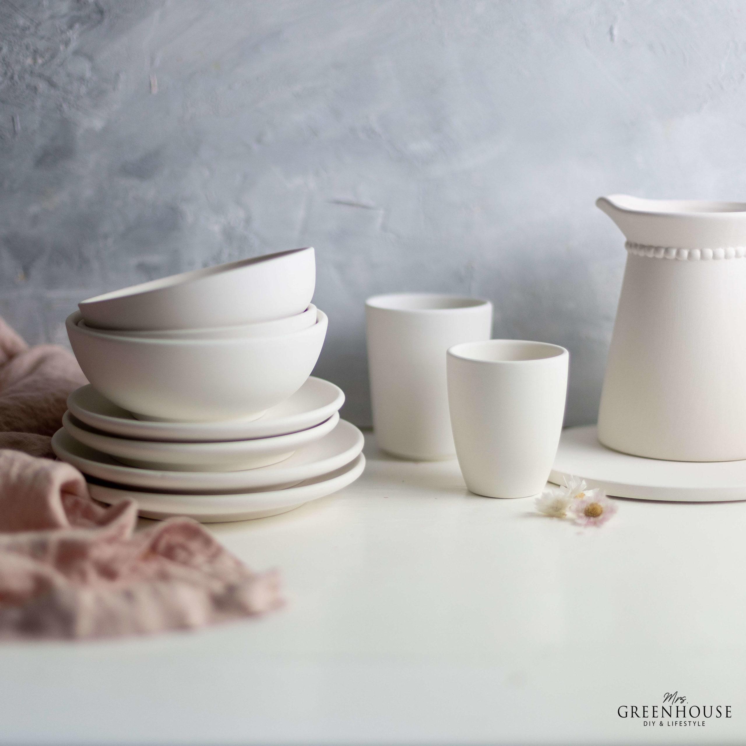 Keramik zuhause bemalen