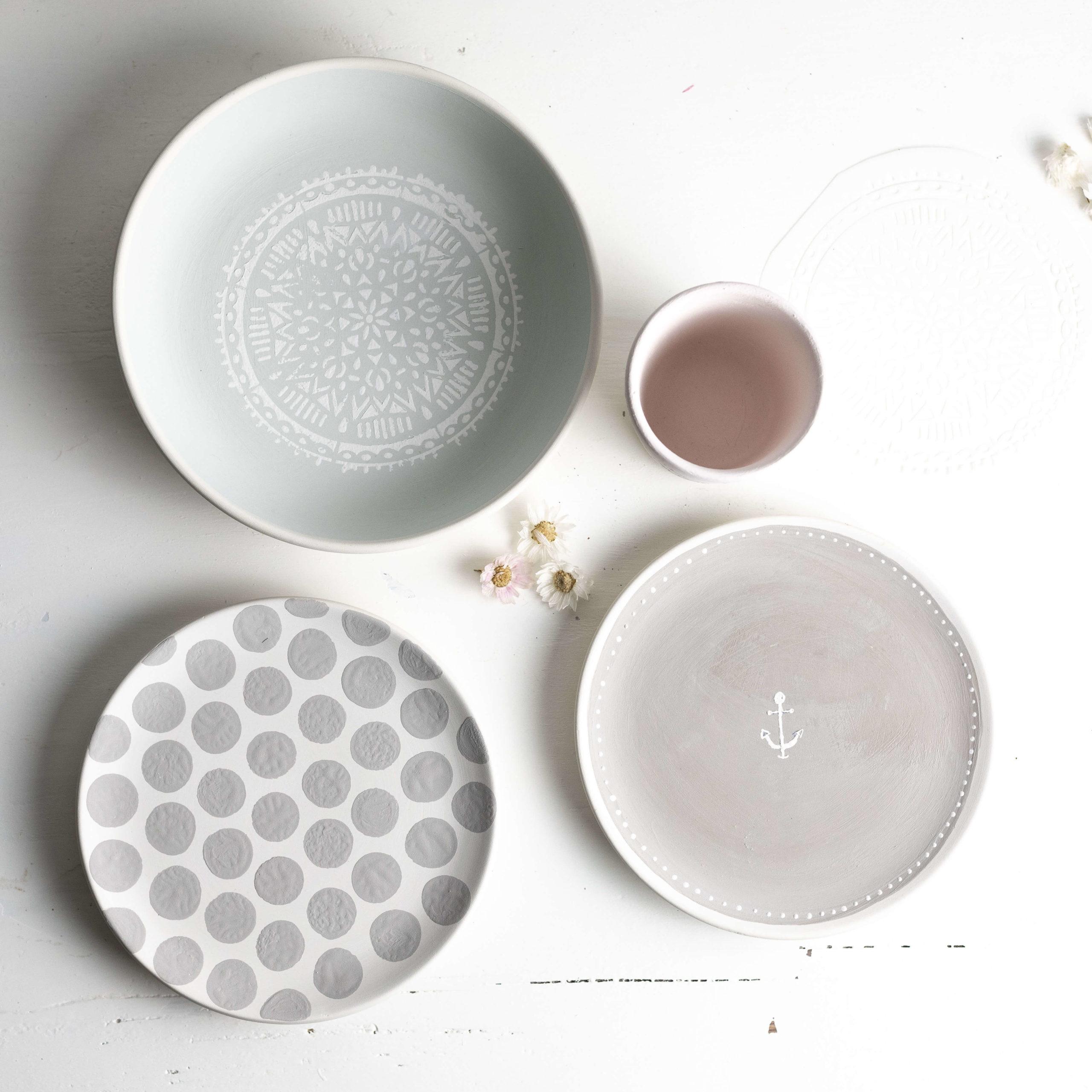 Keramik mit Motiven bemalen