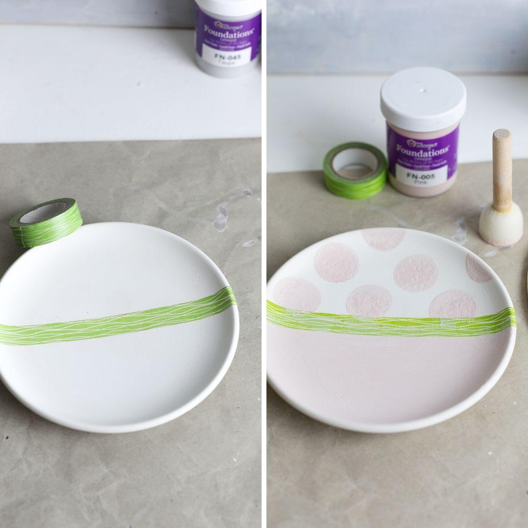 Keramik mit Punkten verzieren
