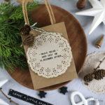 Geschenke mit Stempeln verzieren