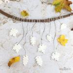 Herbst Mobile aus Fimo Blättern