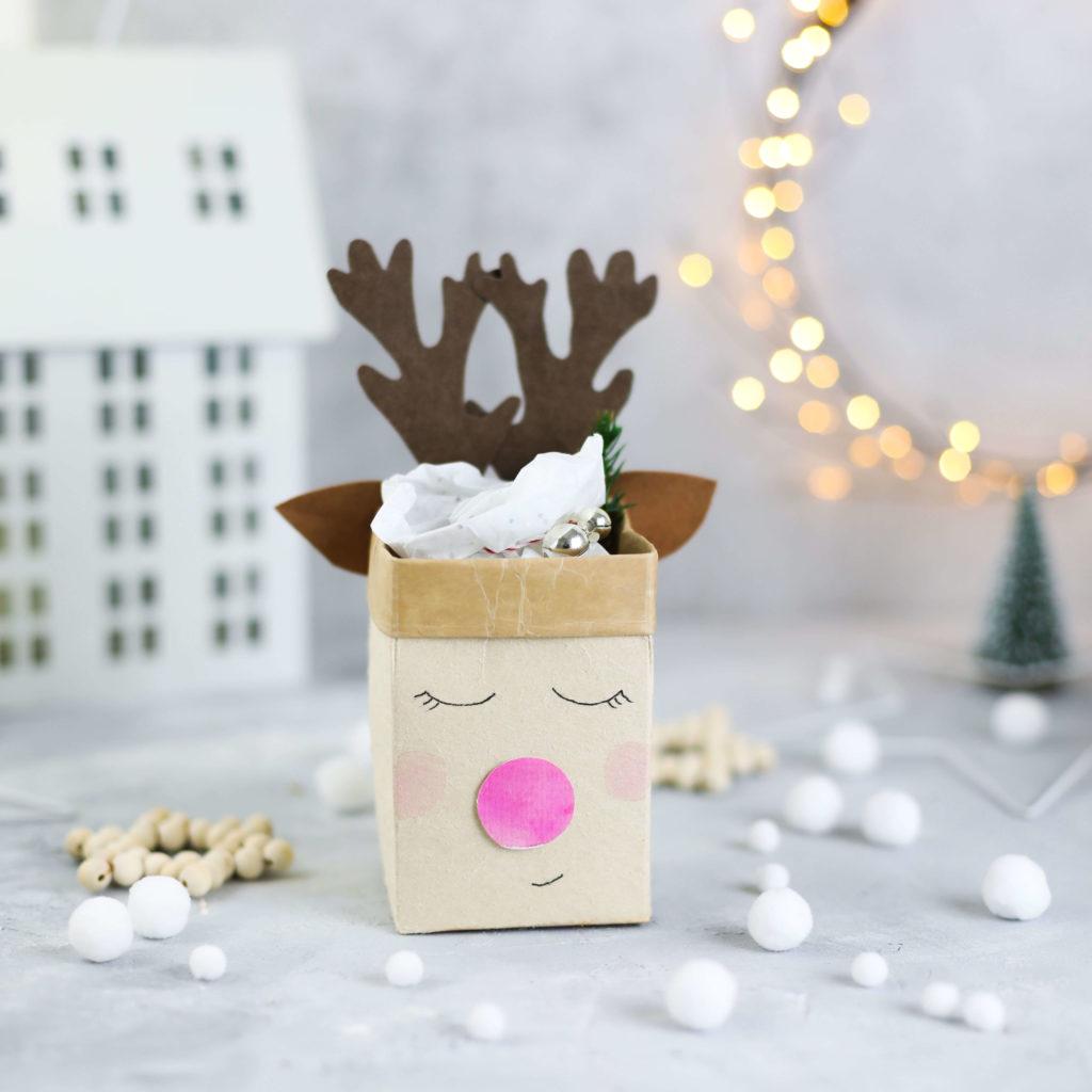 Milchtüten Upcycling Geschenkverpackung Weihnachten