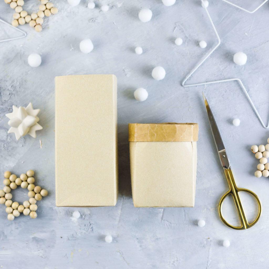 Milchtüten Upcycling Geschenkverpackung
