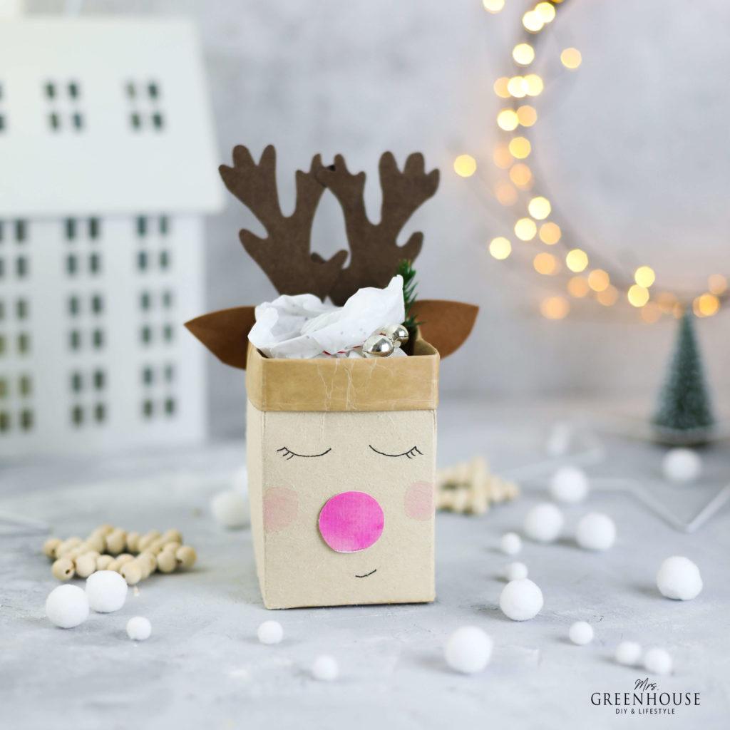 Geschenkverpackung aus Milchtüten