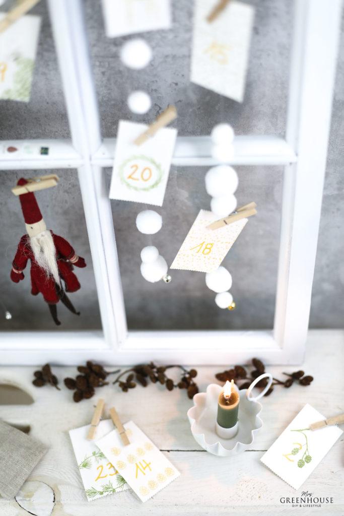 Schneeflocken Adventskalender