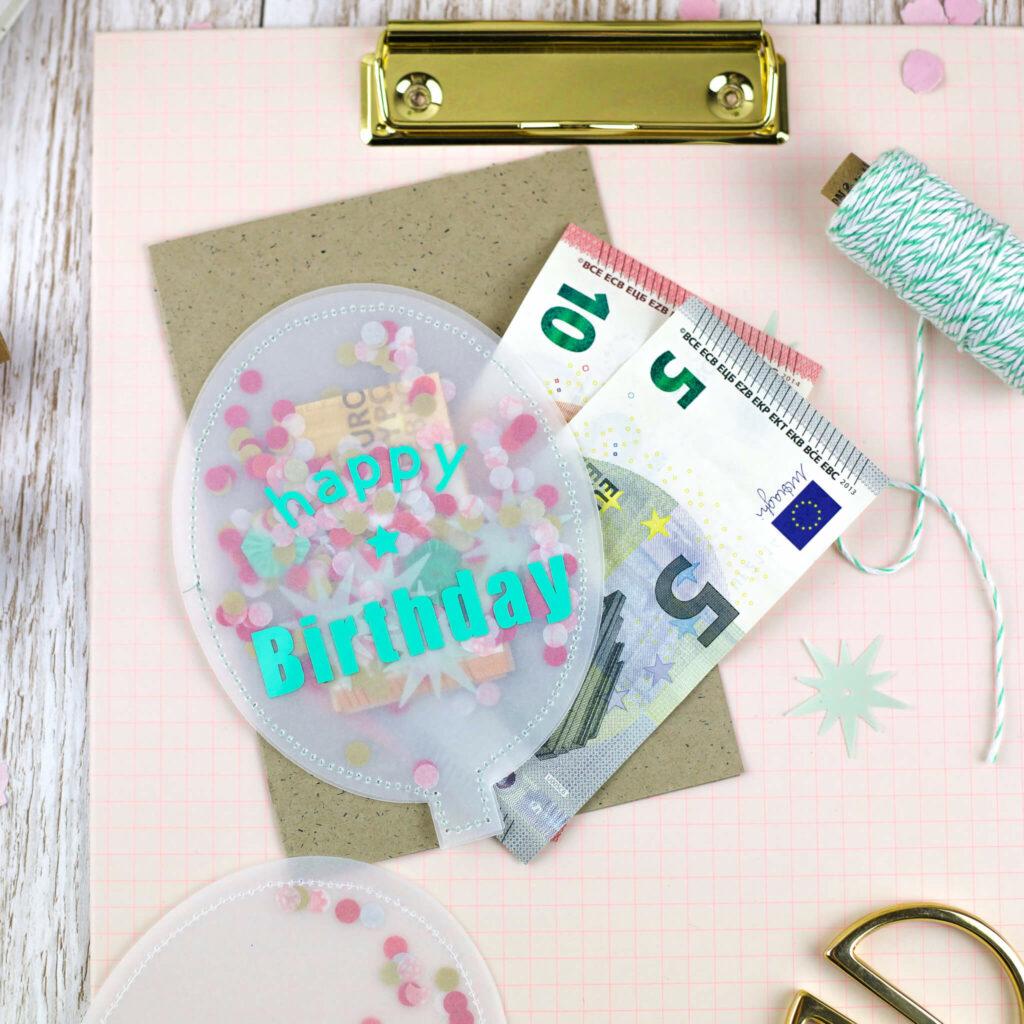 Konfetti Geburtstagskarte