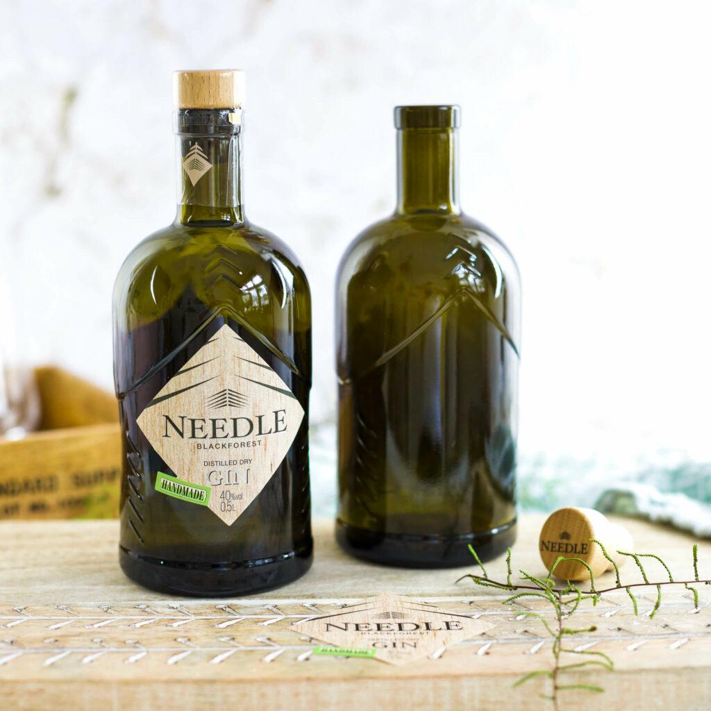 Needle Gin Flaschen gravieren