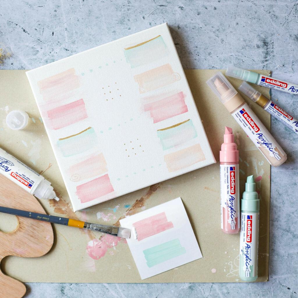 Acrylmalerei mit Acrylmarkern