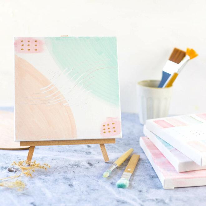 acrylmalerei mit edding
