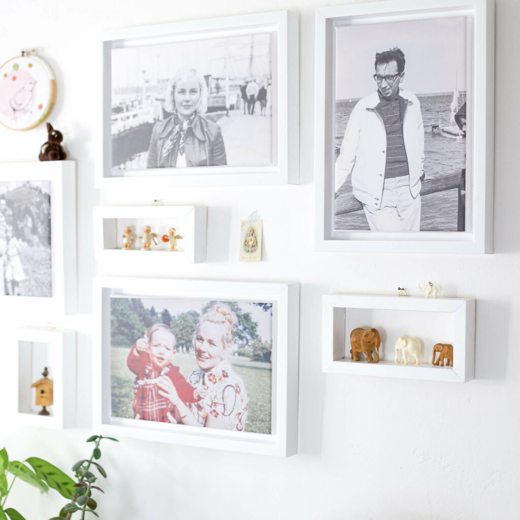 Fotoleinwaände und DIY mini Rahmen